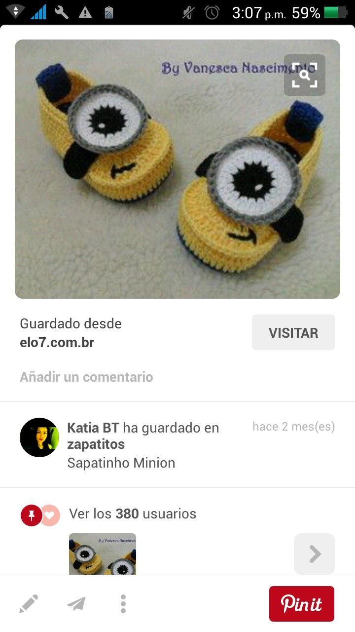 Pin de Yara Maria Fonseca Ribeiro en Sapatos De Bebê | Pinterest ...