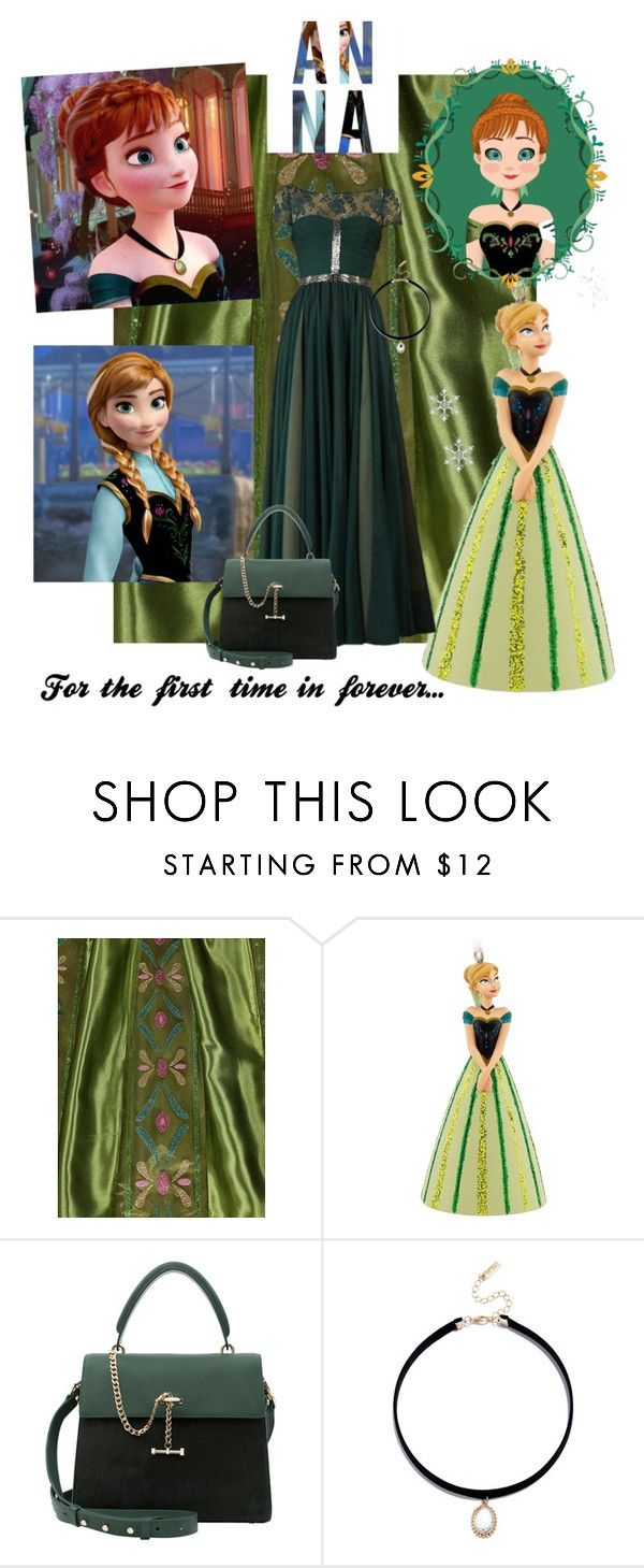 """Anna"" by safeeyafab ❤ liked on Polyvore featuring George, Hallmark, Disney, Reem Acra, Luana and LULUS"