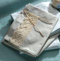 beautiful pillowcase edging