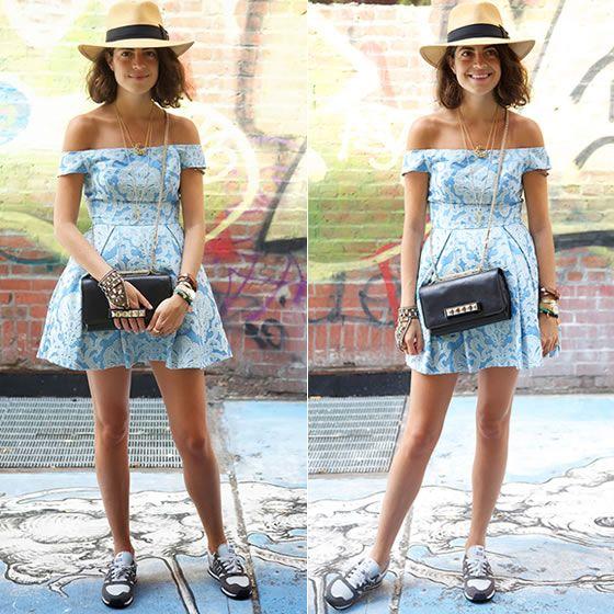Leandra versão girlie #stealthelook #look #looks #streetstyle #streetchic #moda #fashion #style #estilo #LeandraMedine #vestido #tenis #newbalance