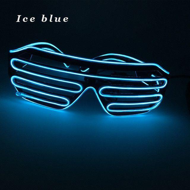 3 Modes Blue El Wire Led Glasses Fashion Neon Luminous Party ...