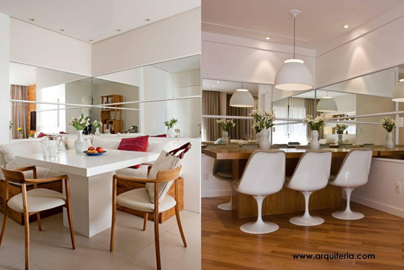 Salas De Jantar Pequenas Mesa Encostada No Canto Da Parede Kitchens -> Sala De Jantar Pequena Clean