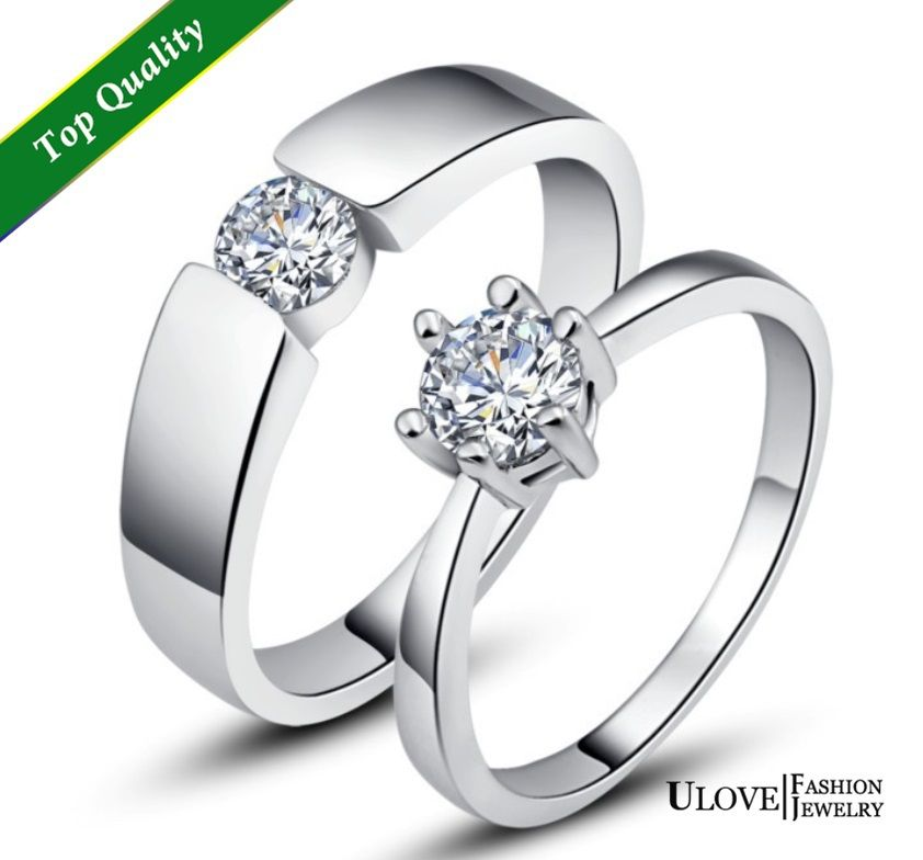 find more rings information about 50 off engagement rings for lovers women and men crystal - Discount Wedding Rings Women