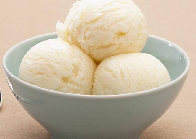 طريقة عمل ايس كريم منزلي سريع بالصور من Skoon Hassan Recipe Coconut Sorbet Ginger Sorbet Ginger Desserts