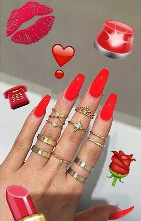 pin jillian lawson red nails