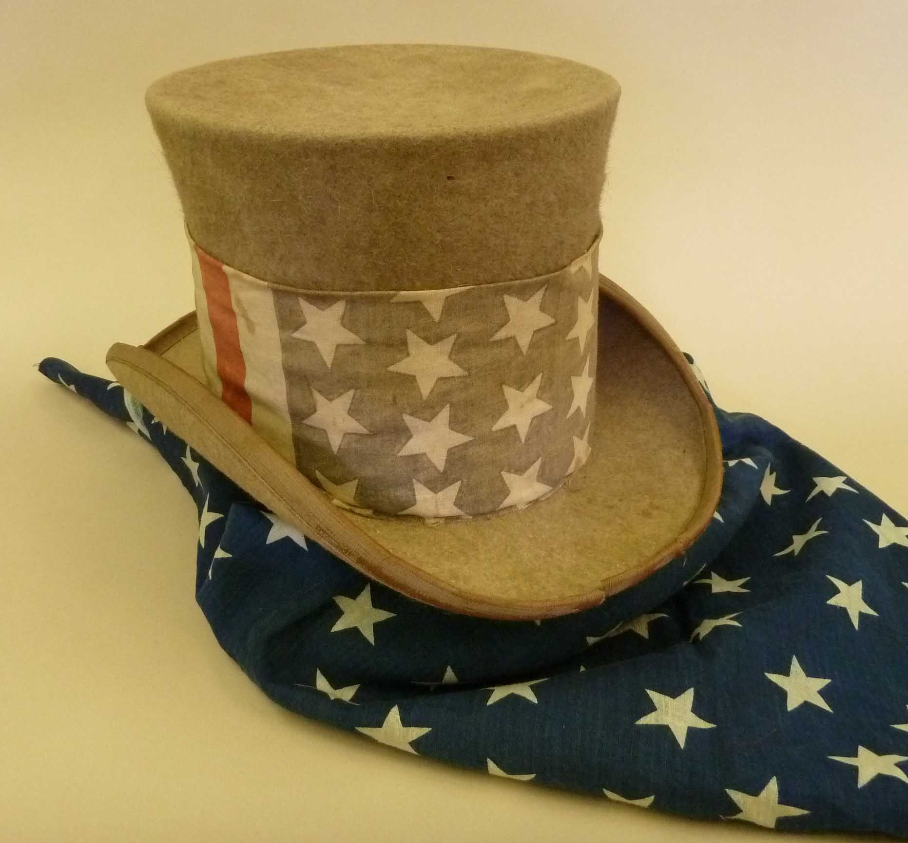 1892 Campaign Hat & Scarf Elements Of 19th Century
