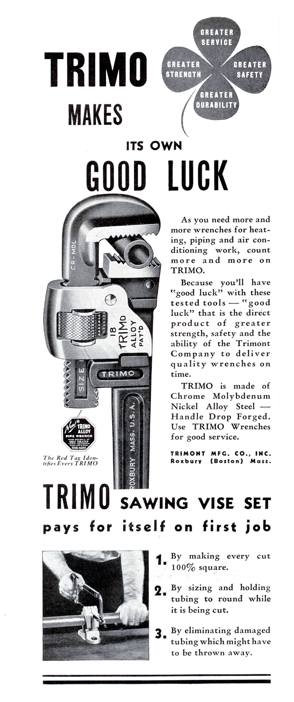 The Trimont Mfg. Co., Inc. ad from the September 1936