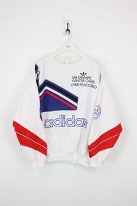 Adidas Lake Placid Olympic Sweatshirt White XL in 2019
