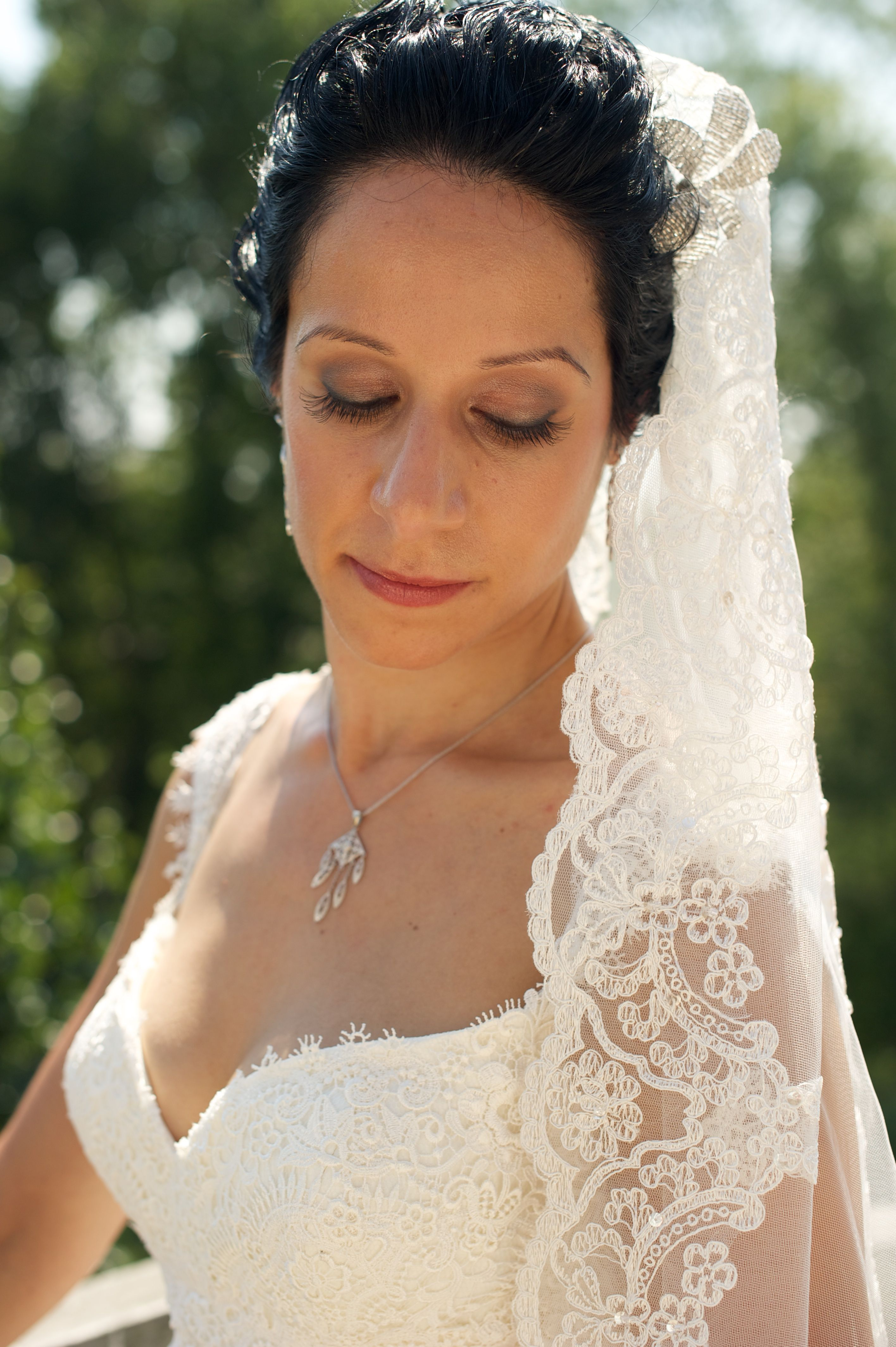 stacy economou bridal hairstyle by claudine, bridal make up by patty