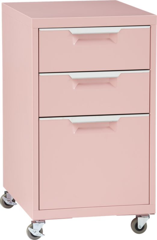 Light Pink Filing Cabinet From Cb2