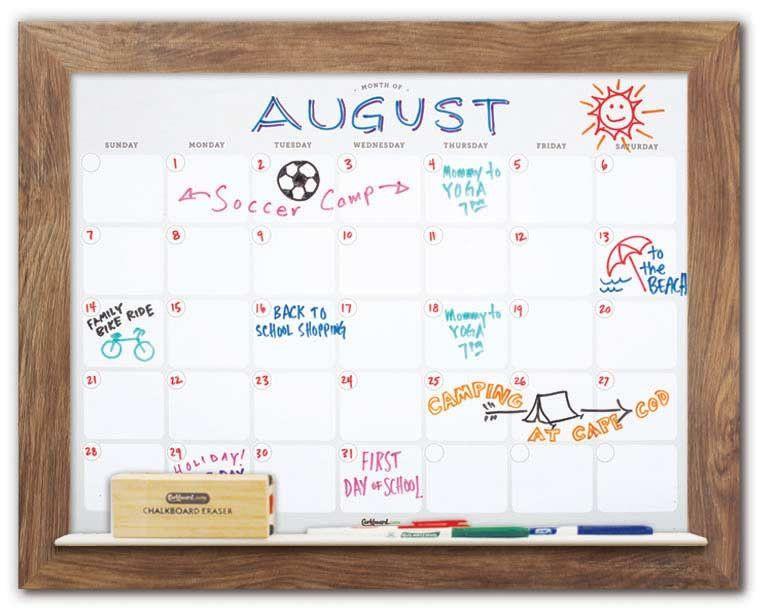 Dry Erase Wall Calendar Decorative Whiteboard Calendar Dry