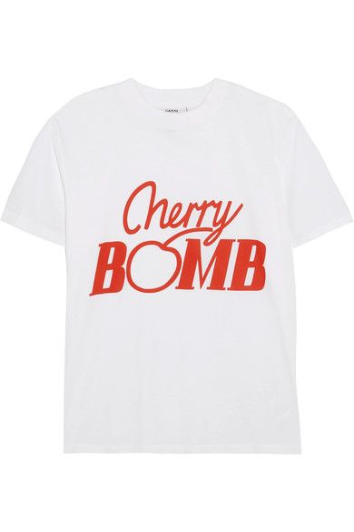 9754b490317a GANNI Harvard printed cotton-jersey T-shirt.  ganni  cloth  tops ...