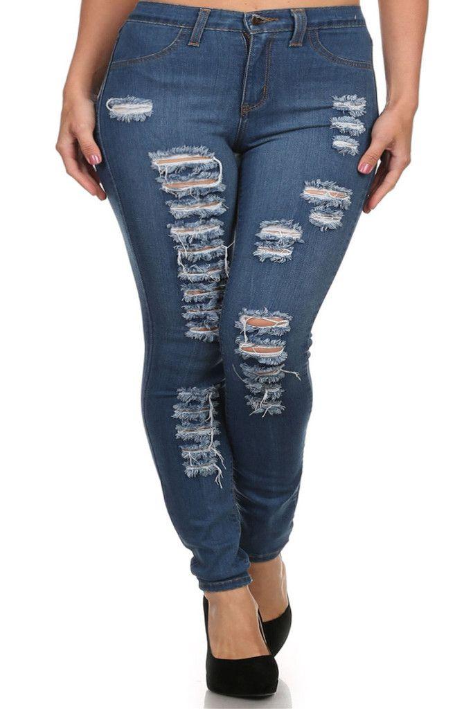 1fabe36990a Plus Size High Waist Ripped Denim Jeans – PLUSSIZEFIX