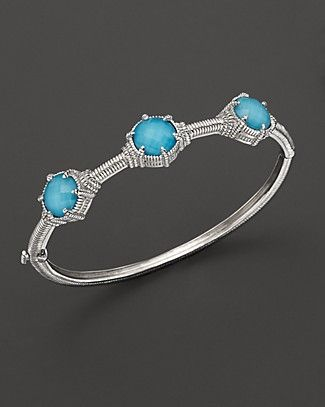 a2bf08d8f Judith Ripka Sterling Silver Turquoise Doublet Eclipse Bangle |  Bloomingdale's