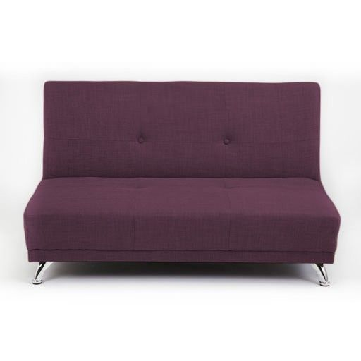 Plum Purple 2 Seater Convertible Clic Clac Childrens Sofa Bed 150