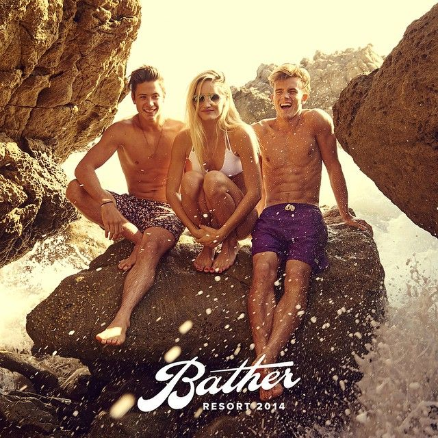 Our studs @briiighton & @_chriswebb_ in the new Bather lookbook #WilhelminaLA #BrightonReinhardt #ChrisWebb