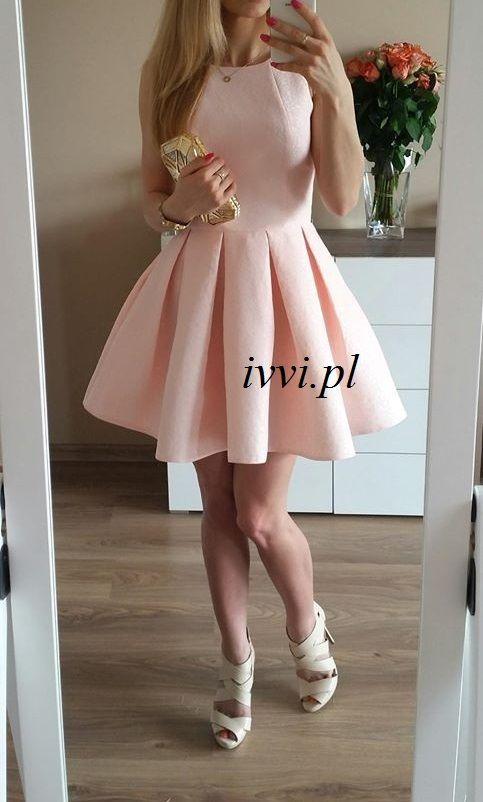 Pudrowy Roz Zakardowa Rozkloszowana Sukienka L 5416185157 Oficjalne Archiwum Allegro Dresses Fashion Graduation Dress