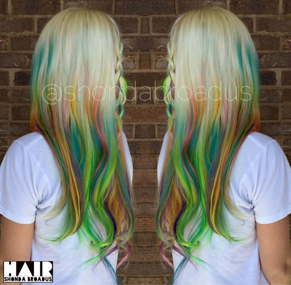 HOW-TO: 7 Shades of Rainbow Bright Haircolor - Hair Color | Salons ...