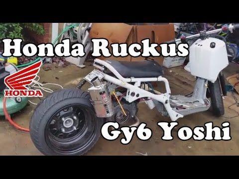 GY6 Ruckus First Exhaust Sound Test  Yoshimura with