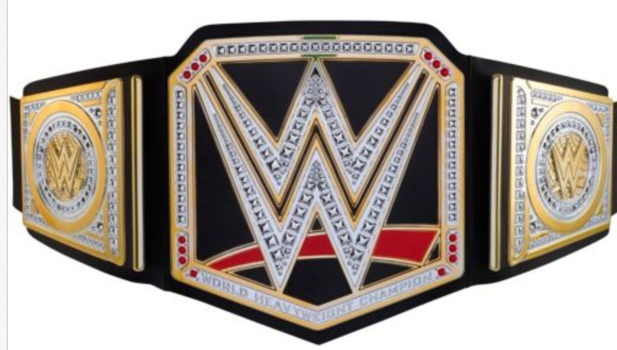 WWE World Heavyweight Championship Title Belt Mattel FOR WRESTLING FIGURES WWF