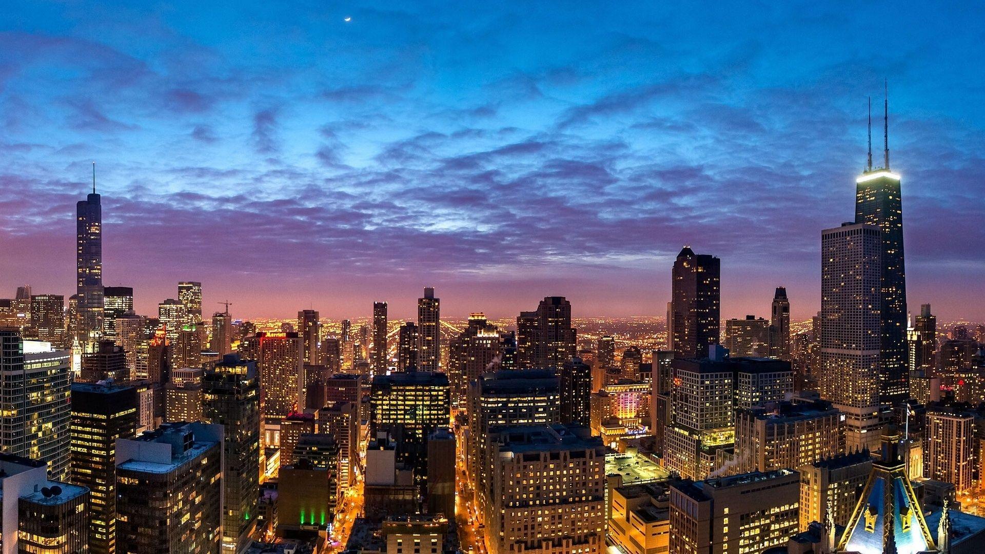 Chicago Skyline HD Wallpaper for Desktop and iPad 1920×1080 Chicago Skyline Wallpapers (48 ...