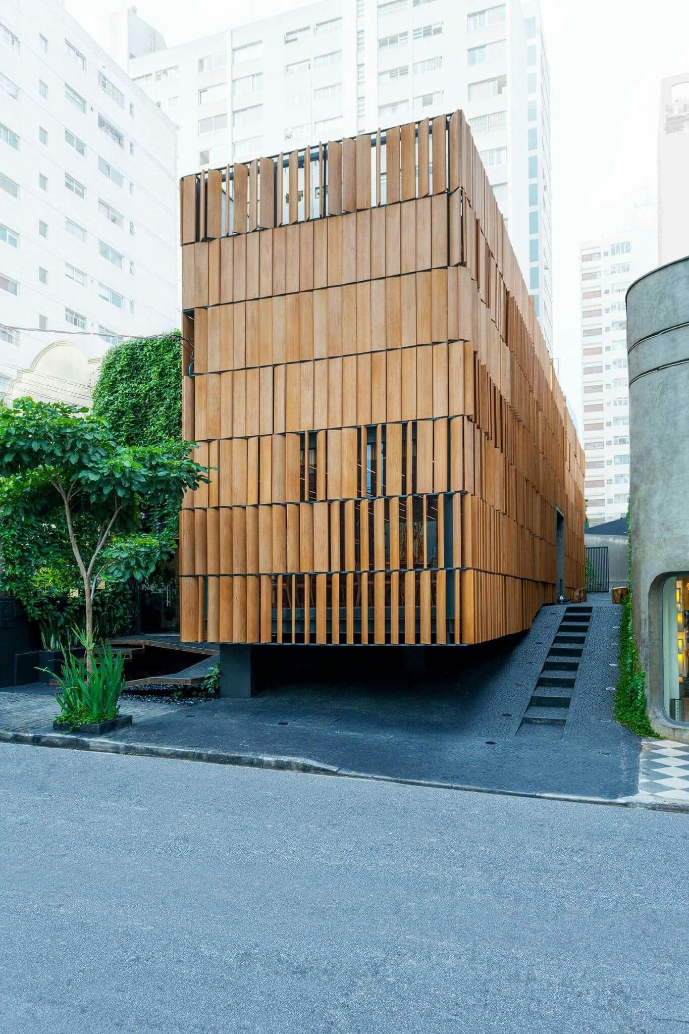 holz fassade architektur pinterest facades architecture and arch. Black Bedroom Furniture Sets. Home Design Ideas
