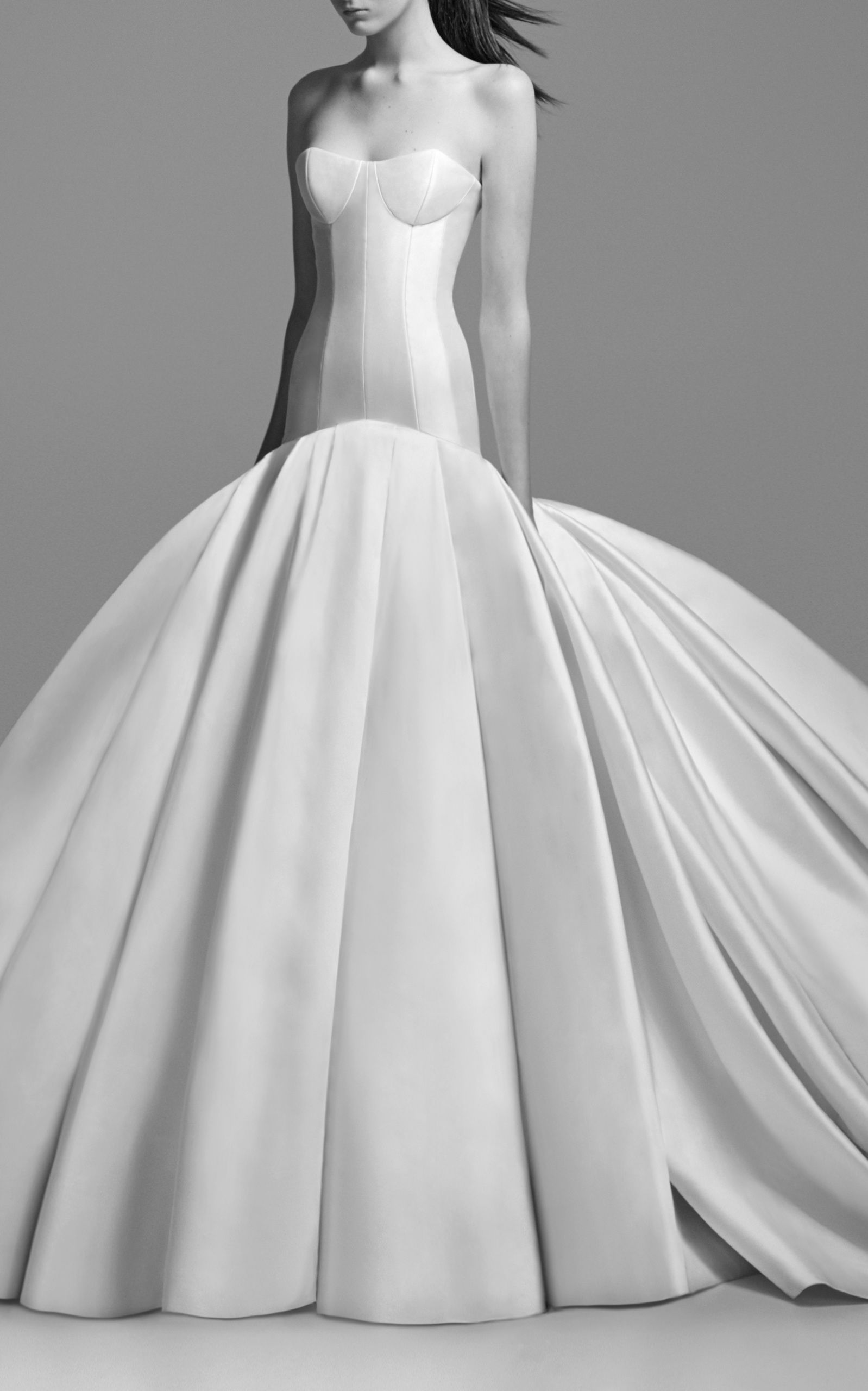 Christy strapless long line corset gown in bridal dress