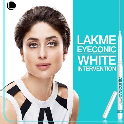 White Intervention Lakme Eyeconic Kareenakapoor Eyes Makeup