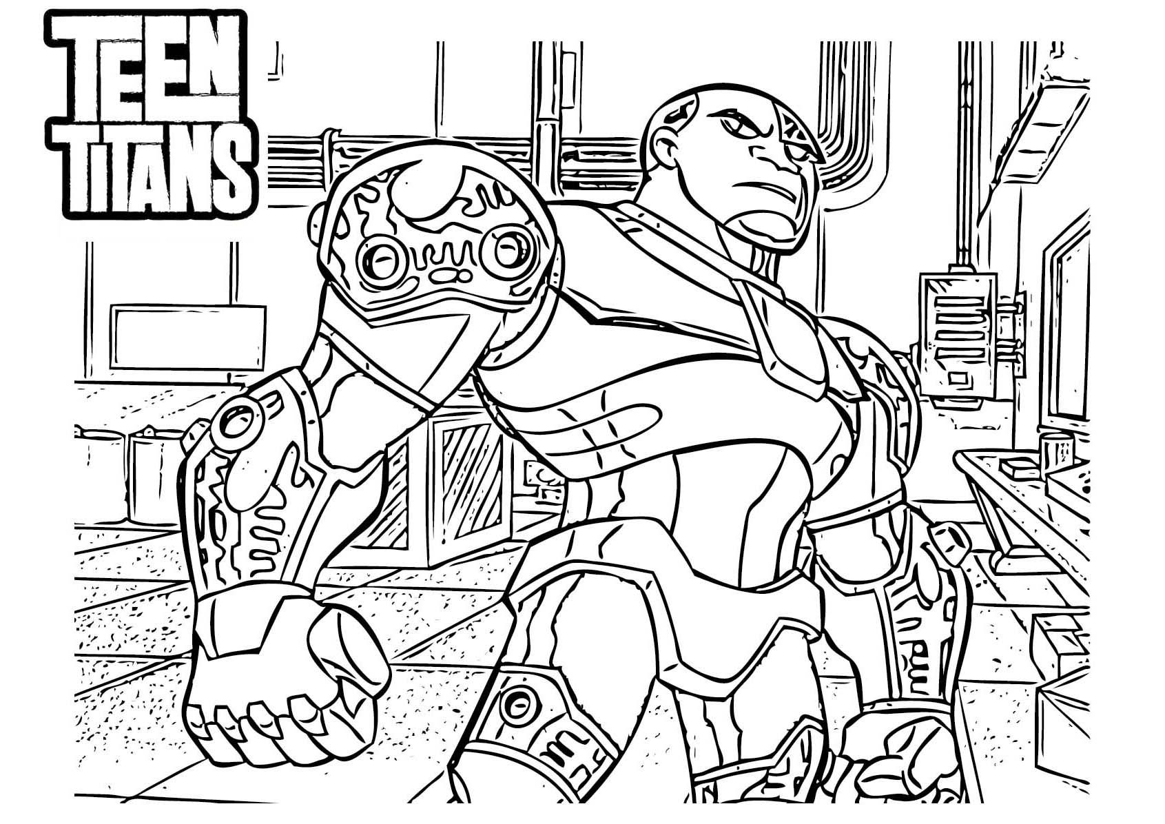 Cyborg-teen-titans-coloring-pages.jpeg (1691×1196) | Coloring 4 Kids ...