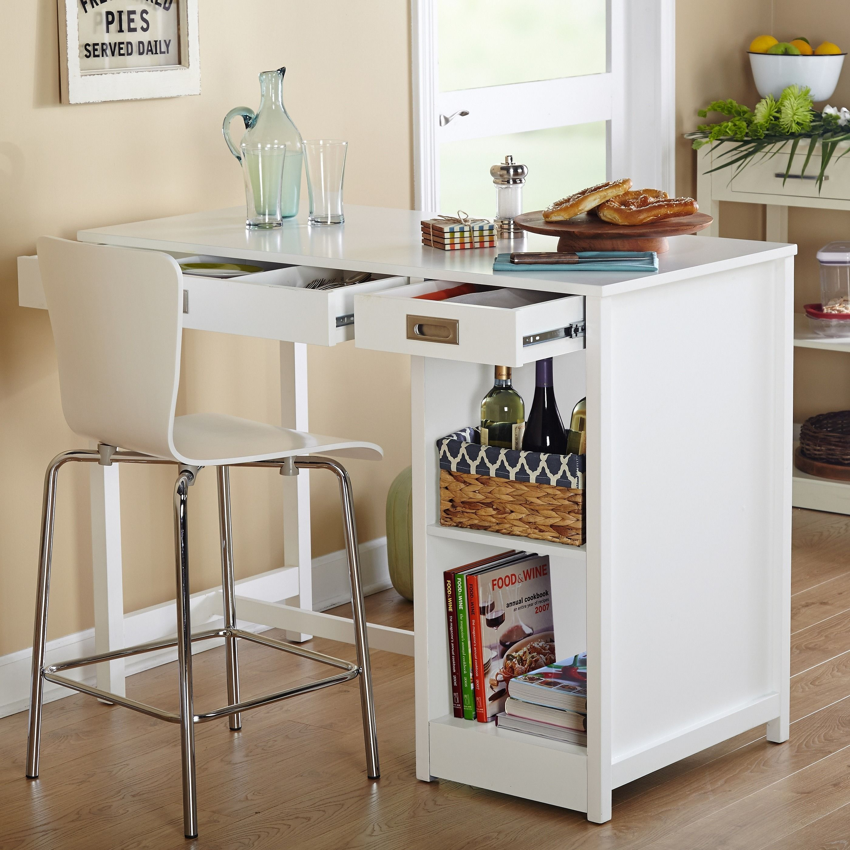 Simple Living Terri Counter Height Desk Dining Table White Counter Height Desk Dining Room Bar Bar Furniture