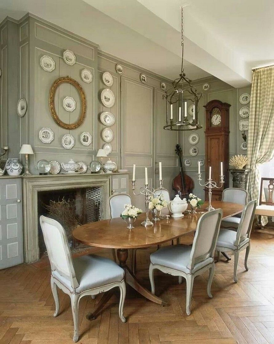French style dining room decor