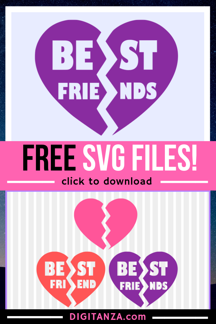 FREE Best friends SVG Svg, Plotter freebie, Svg files