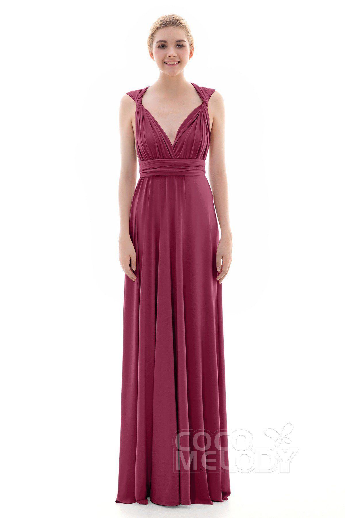 ba45f297678 Divine Sheath-Column Natural Floor Length Knitted Fabric Sleeveless ...