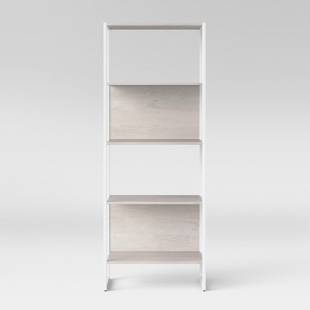 664 Paulo 4 Shelf Bookshelf White