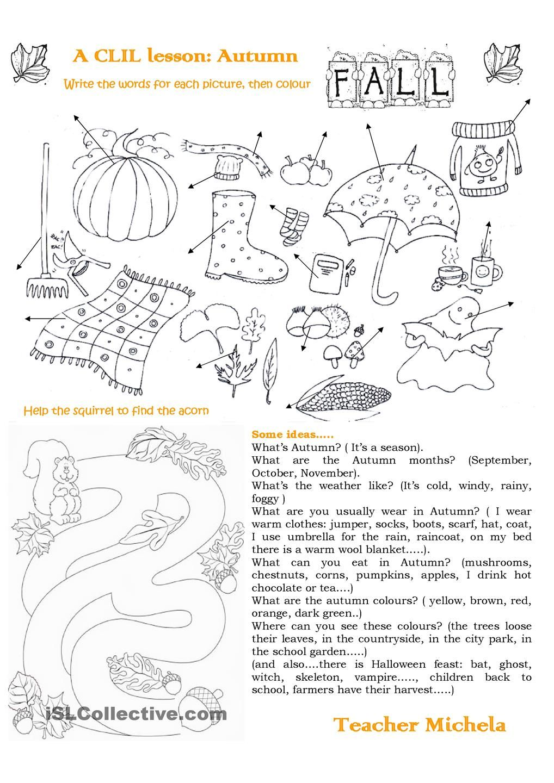 A CLIL lesson: Autumn | Autumn / Fall Lessons | Pinterest ...
