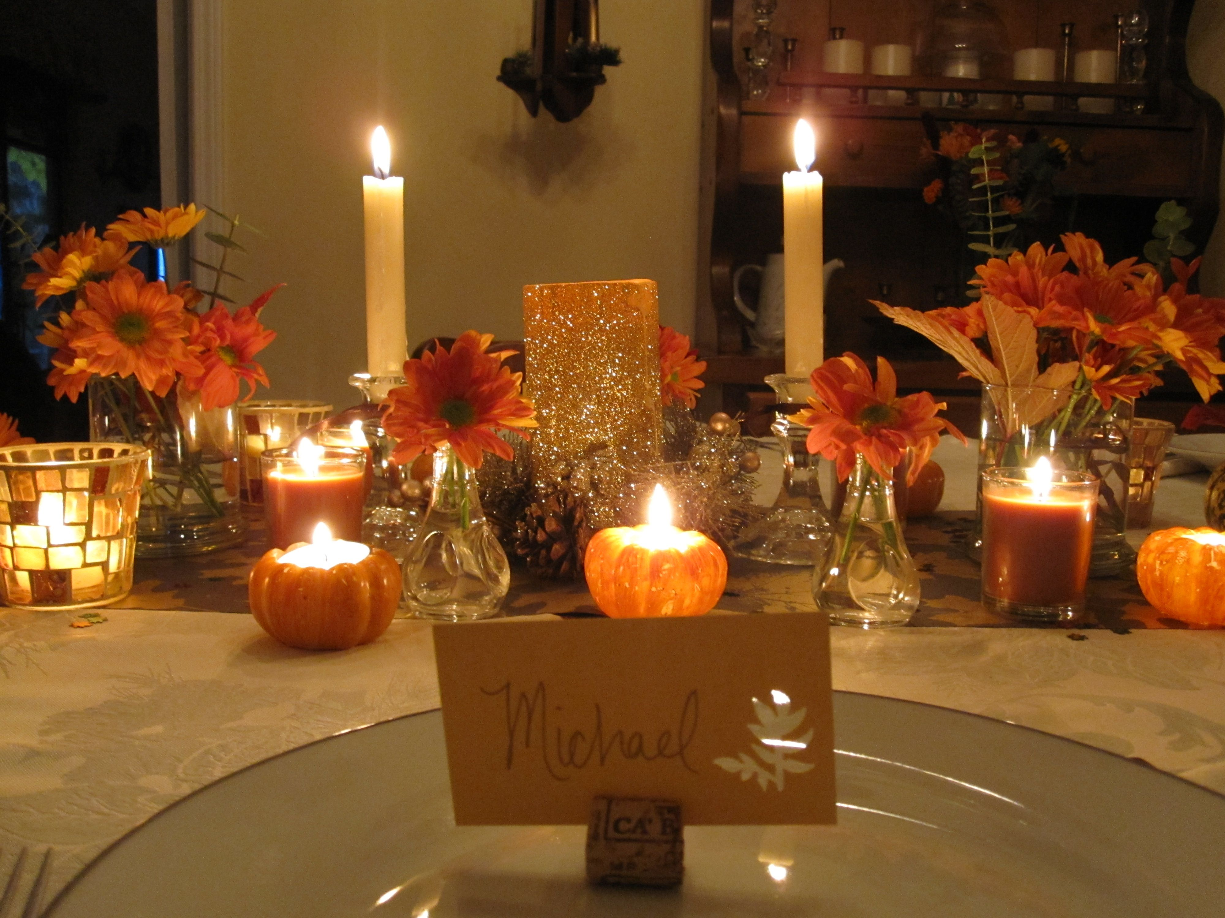 Interior Design Awesome Decorating And Setting Thanksgiving Table .