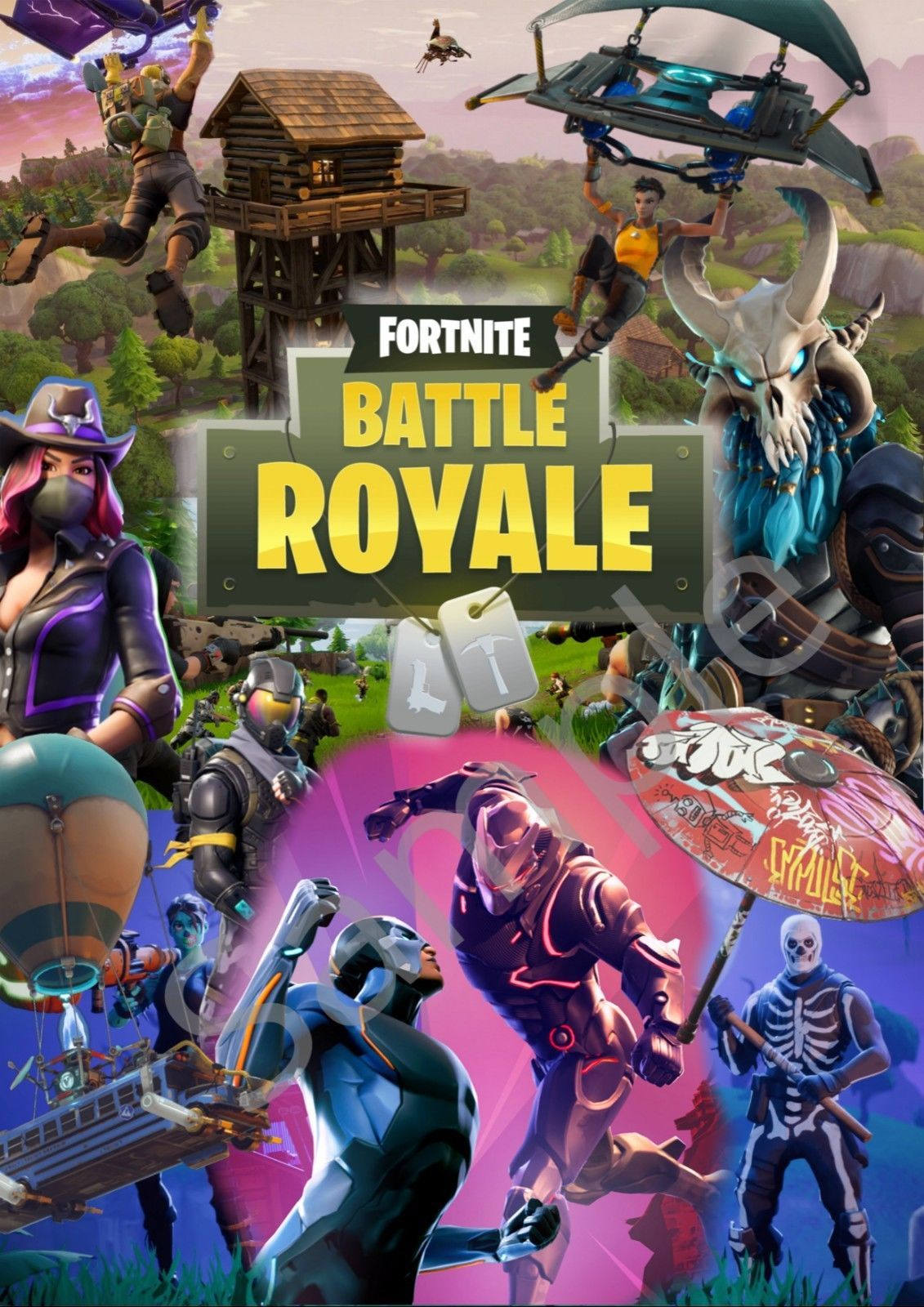 Large FORTNITE GAME POSTER A2 Gaming wall art, Gaming