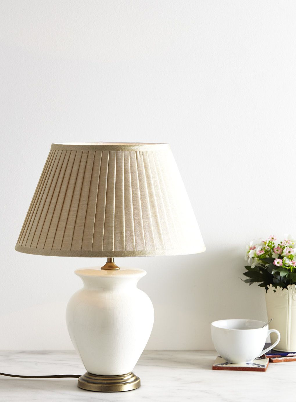 Cream Small Harris Table Lamp   BHS
