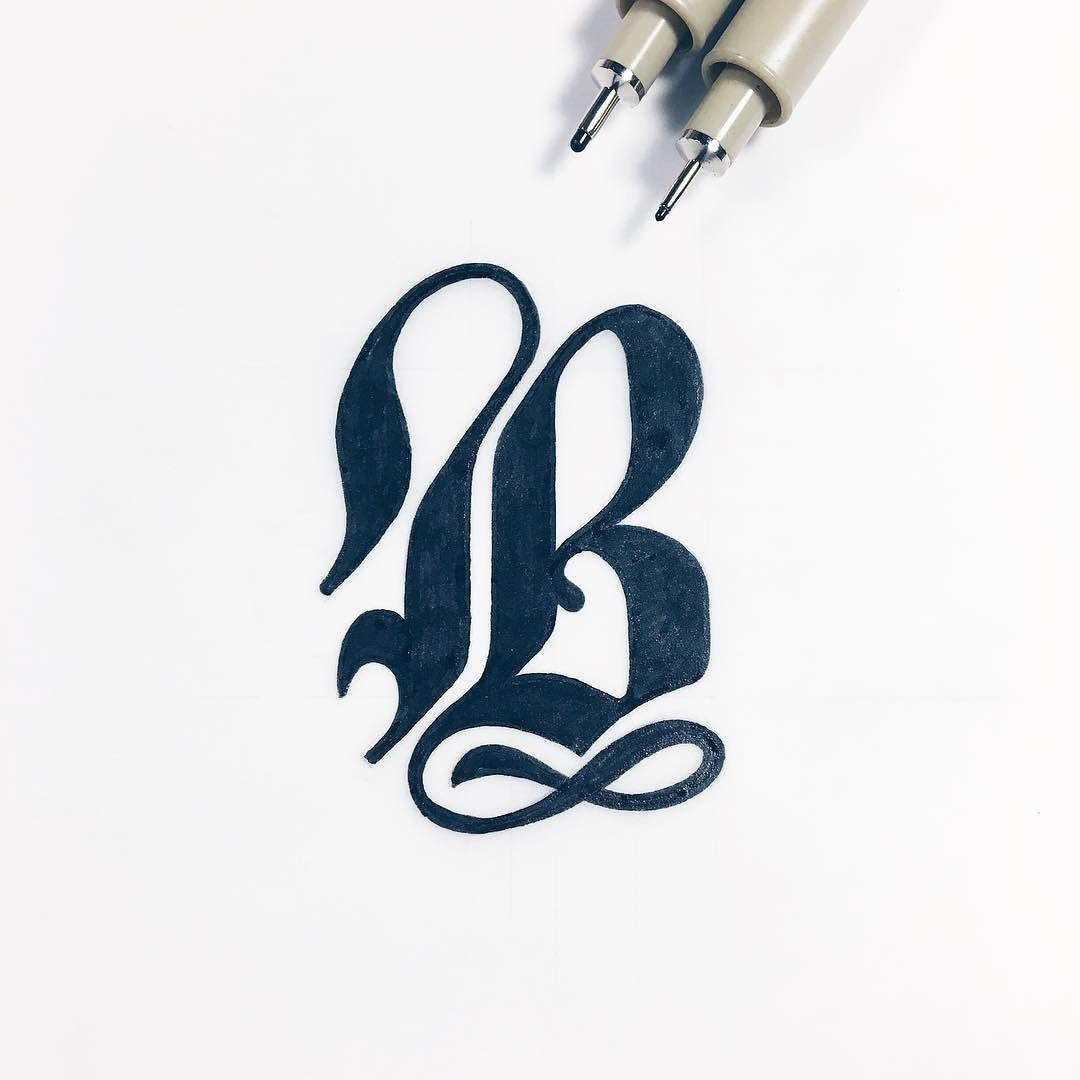 A bold letter B by christophercraig_ Hand lettering logo