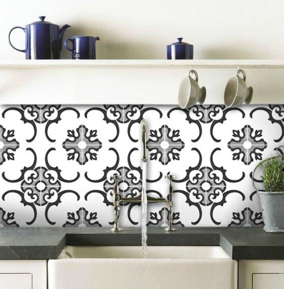 Tile Sticker Pack for Kitchen, Bathroom & Floors in Milano