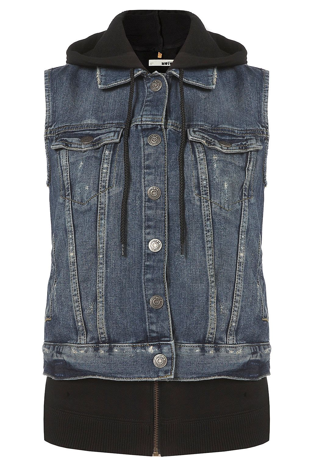 topshop_moto jersey hood denim gilet  I NEED IT OR I WILL DIE. DIE I TELL YOU