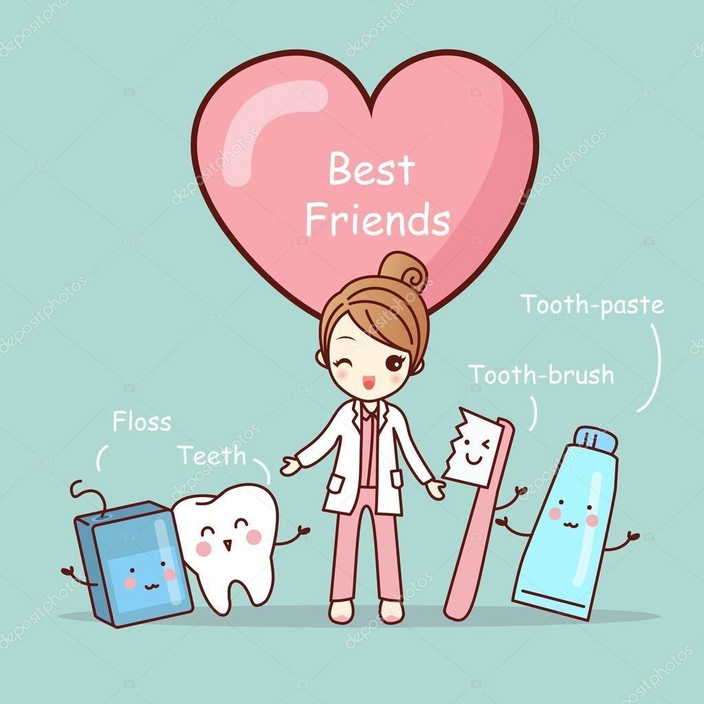 Descargar mejores amigos de dibujos animados lindo diente