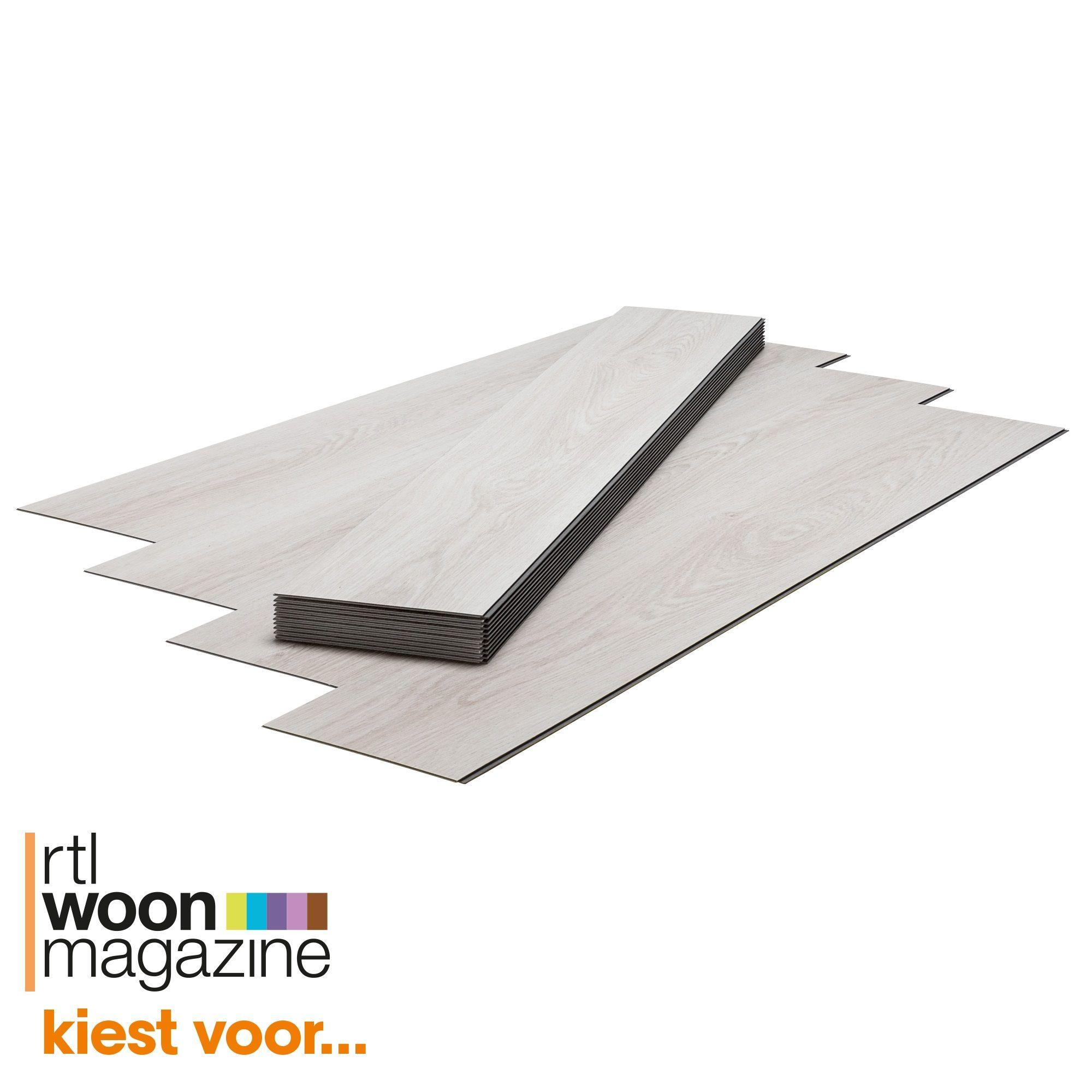 vinylstrook berkely met wit eiken houtdessin geschikt voor