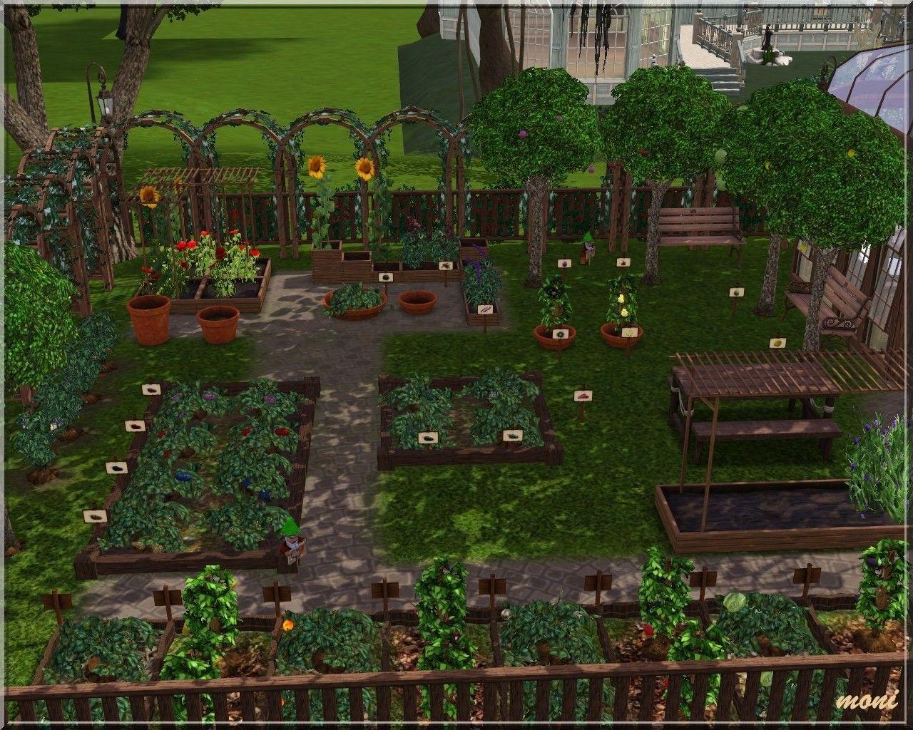 Arda Sims Small Garden The Sims 4 Lots Sims 4 Lots Minecraft Garden Ideas Small