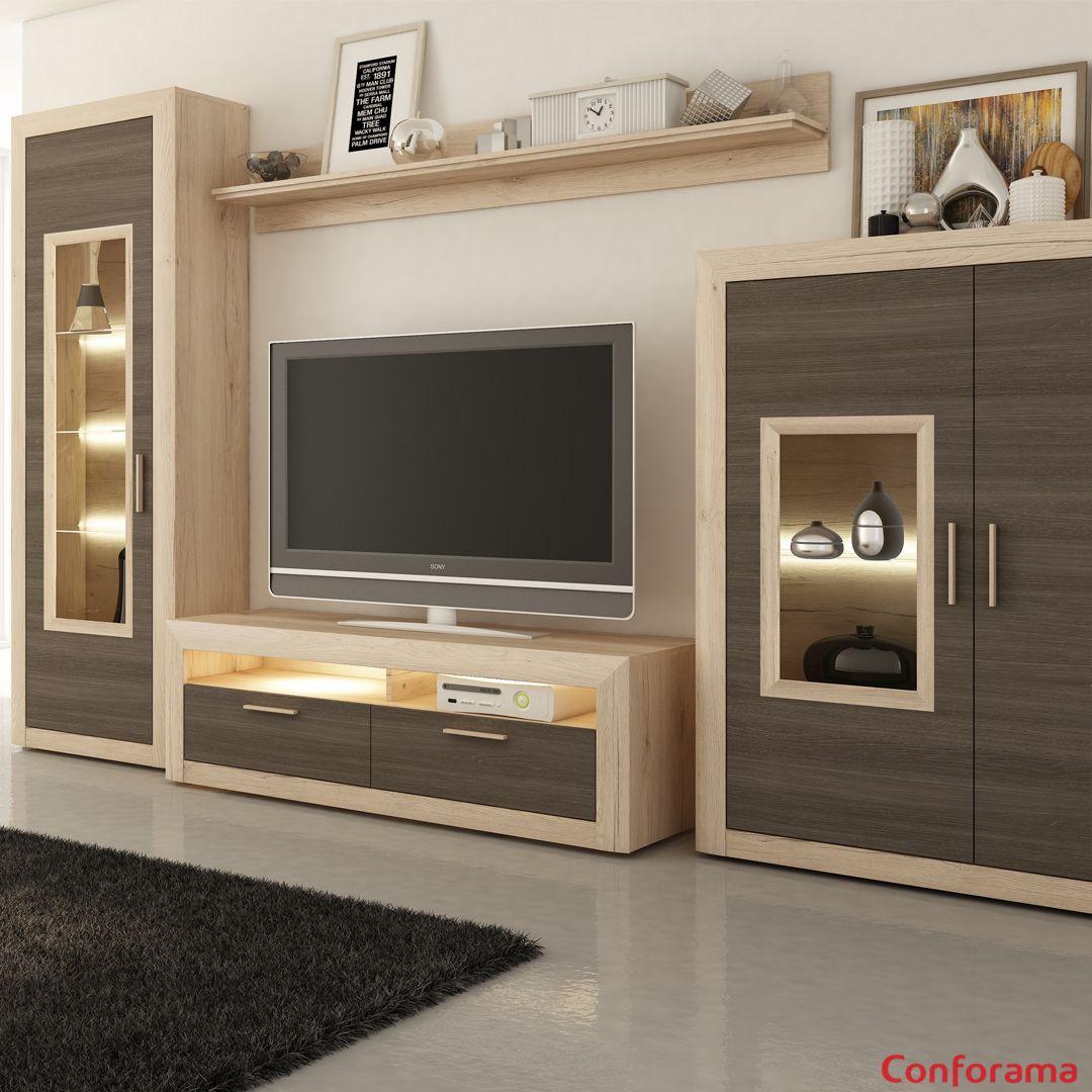 Has visto ya nuestro mueble TV de salón DIMARO en tonos de marrón