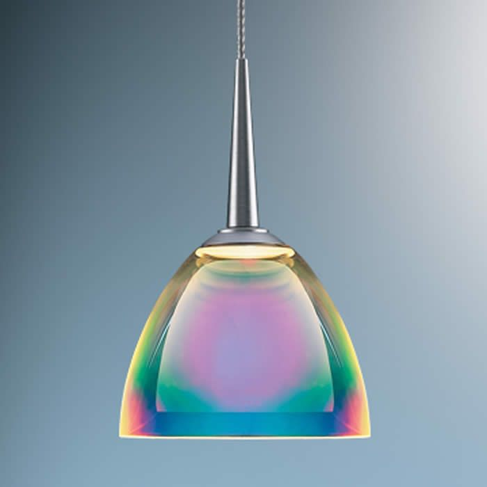 A Multi Colored Glass Light Shows Rainbows Of Light Ultra Modern
