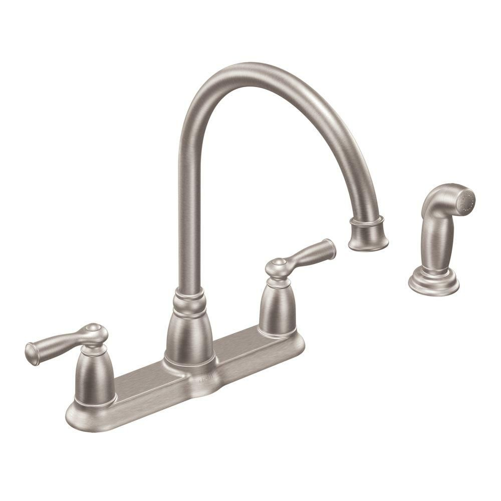 MOEN Banbury High-Arc 2-Handle Standard Kitchen Faucet with ...