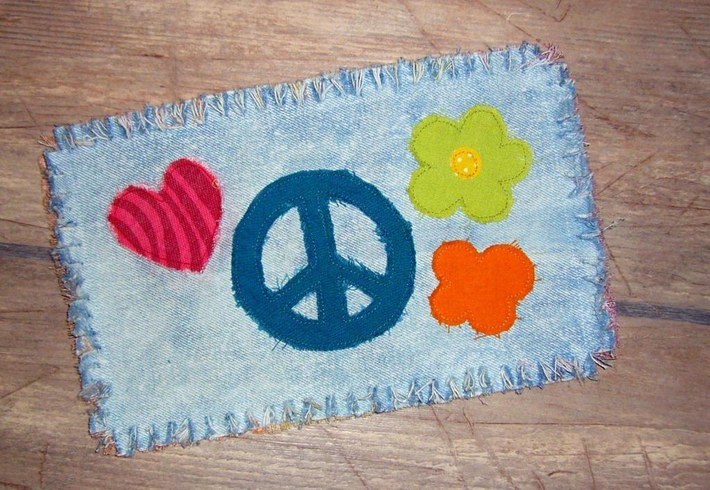 Hippie mug rug