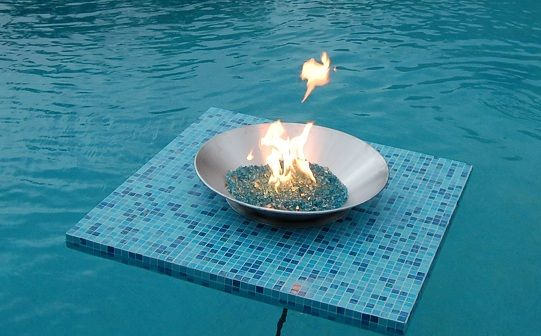 Choose from one of our beautiful styles or create a custom Floating Fire Pit  with a Tile that matches your existing patio. Only @Aquafirepit - Here Is One Of Our Tile Models. Choose From One Of Our Beautiful