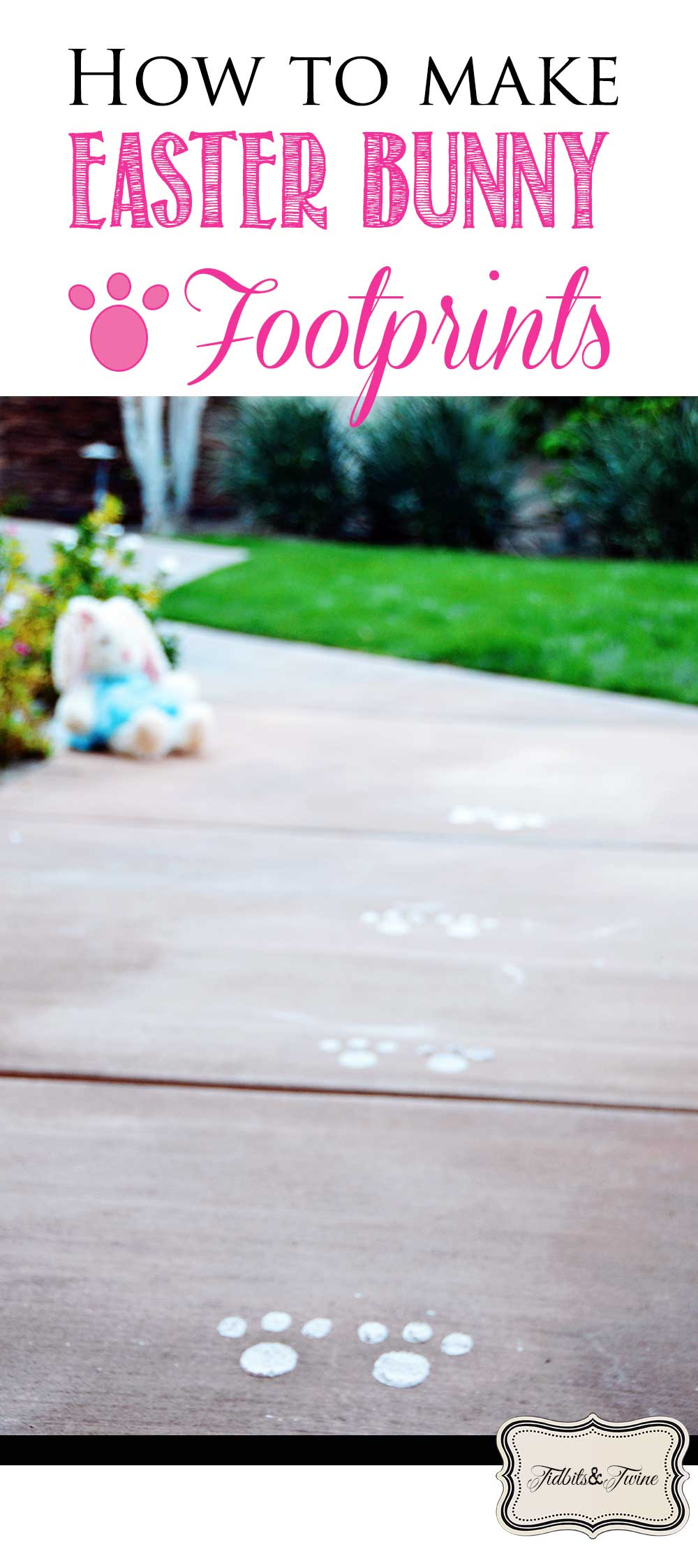 How to Make Easy DIY Easter Bunny Footprints with Flour